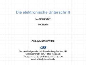 Die elektronische Unterschrift