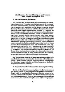 Die Elemente des beschleunigten Universums - zum Physik-Nobelpreis 2011