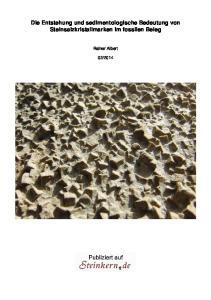 Die Entstehung und sedimentologische Bedeutung von Steinsalzkristallmarken im fossilen Beleg