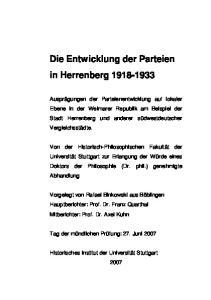 Die Entwicklung der Parteien in Herrenberg
