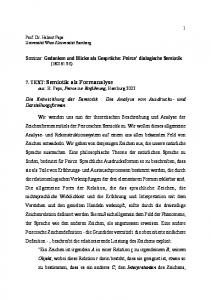Die Entwicklung der Semiotik : Die Analyse von Ausdrucks- und Darstellungsformen