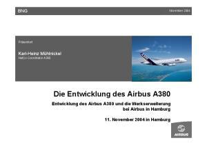 Die Entwicklung des Airbus A380