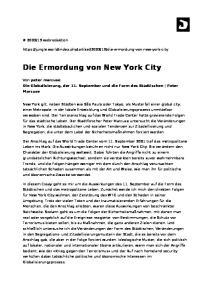 Die Ermordung von New York City