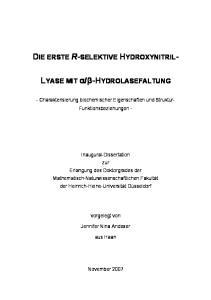 DIE ERSTE R-SELEKTIVE HYDROXYNITRIL-