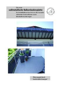 Die erste vollmetallische Balkonbodenplatte