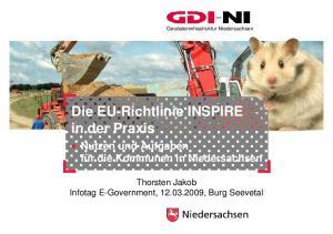 Die EU-Richtlinie INSPIRE in der Praxis