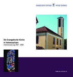 Die Evangelische Kirche in Hohensachsen Innenrenovierung
