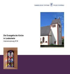 Die Evangelische Kirche in Leutesheim. Innenrenovierung 2016
