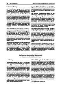 Die Form der elektronischen Notarurkunde