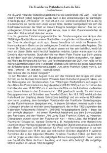 Die Frankfurter Philatelisten hatte die Idee