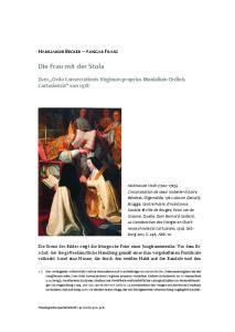 Die Frau mit der Stola