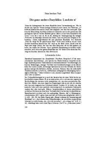 Die ganz andere Enzyklika: Laudato si