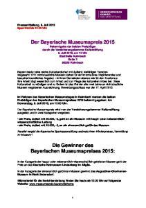 Die Gewinner des Bayerischen Museumspreises 2015: