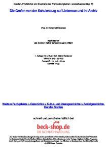 Die Grafen von der Schulenburg auf Lieberose und ihr Archiv