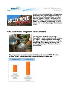 Die Hard:With a Vengeance - Word Problem