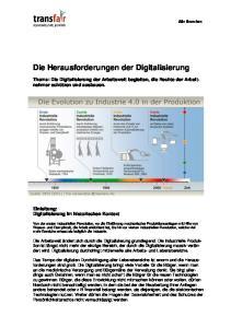 Die Herausforderungen der Digitalisierung