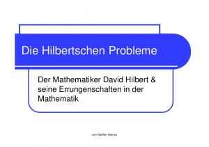 Die Hilbertschen Probleme