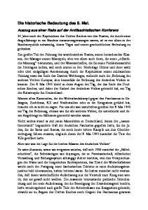 Die historische Bedeutung des 8. Mai