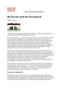 Die Kirche nach der Parachurch