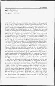 Die Kommission MICHAEL STABENOW