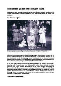 Die letzten Juden im Heiligen Land