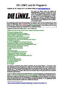 DIE LINKE und ihr Programm
