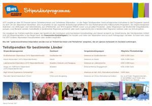 Die mit * gekennzeichneten Stipendien werden nur an Teilnehmerinnen und Teilnehmer vergeben, die ein ganzes Schuljahr im Ausland verbringen