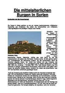 Die mittelalterlichen Burgen in Syrien