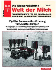 Die Molkereizeitung. Welt der Milch. IE5-Ultra Premium-Klassifizierung für Grundfos Pumpen