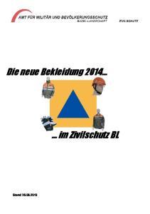 Die neue Bekleidung im Zivilschutz BL
