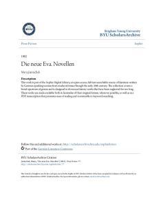 Die neue Eva. Novellen