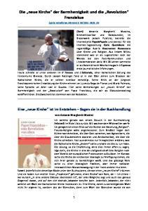 Die neue Kirche der Barmherzigkeit und die Revolution Franziskus