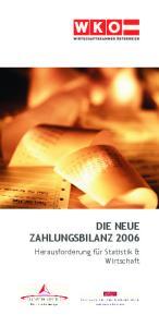DIE NEUE ZAHLUNGSBILANZ 2006