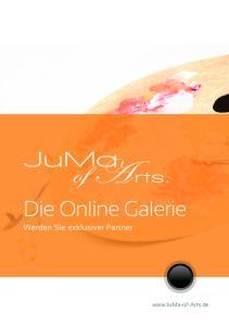 Die Online Galerie. Werden Sie exklusiver Partner