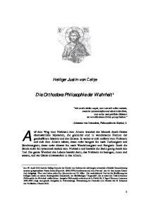 Die Orthodoxe Philosophie der Wahrheit 1