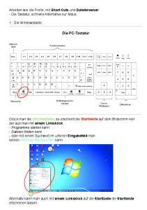 Die PC-Tastatur. Arbeiten wie die Profis, mit Short Cuts und Dateibrowser. - Die Tastatur, schnelle Alternative zur Maus. 1