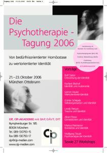 Die Psychotherapie - Tagung 2006