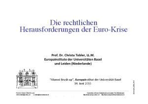 Die rechtlichen Herausforderungen der Euro-Krise