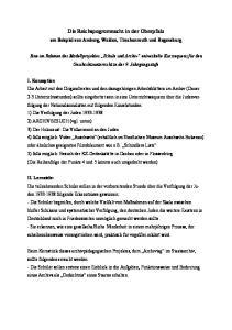 Die Reichspogromnacht in der Oberpfalz
