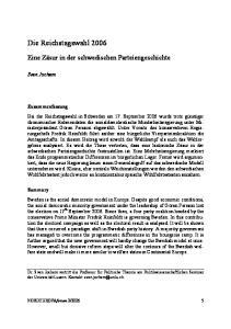 Die Reichstagswahl 2006