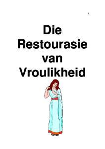 Die Restourasie van Vroulikheid