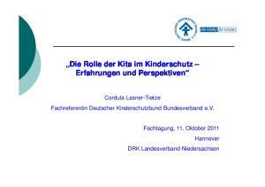 Die Rolle der Kita im Kinderschutz Erfahrungen und Perspektiven