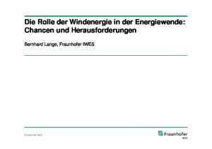 Die Rolle der Windenergie in der Energiewende: Chancen und Herausforderungen