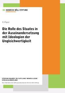 Die Rolle des Staates in der Auseinandersetzung mit Ideologien der Ungleichwertigkeit