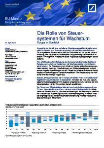 Die Rolle von Steuersystemen