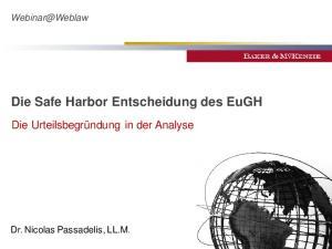 Die Safe Harbor Entscheidung des EuGH