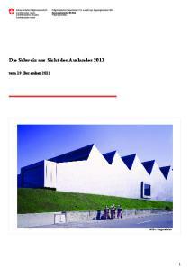 Die Schweiz aus Sicht des Auslandes 2013 vom 19. Dezember 2013