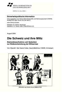 Die Schweiz und ihre Miliz