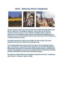 Die St. Katharinen Kirche in Bergkirchen
