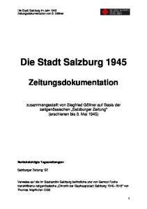 Die Stadt Salzburg 1945